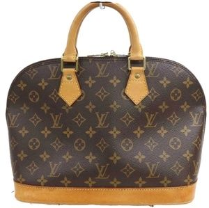 100% Auth Louis Vuitton Hand Bag Alma PM Monogram